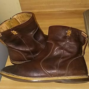 Pikolinos Brown Leather Boots (Women's)